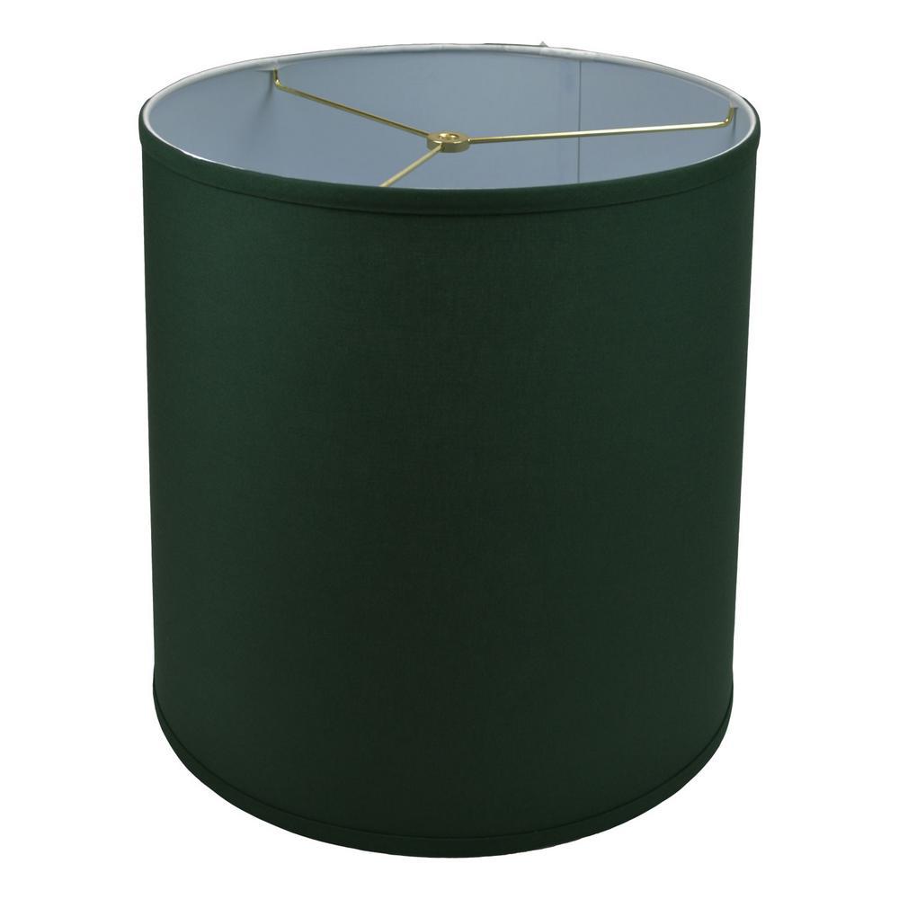 Fenchel Shades 14 in. Top Diameter x 15 in. Bottom Diameter x 15 in. Slant, Empire Lamp Shade - Linen Hunter Green