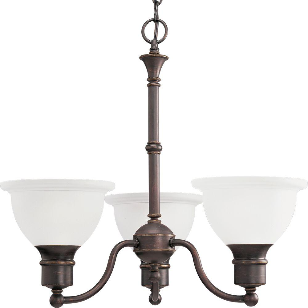 Progress Lighting Madison Collection 3 Light Antique Bronze Chandelier
