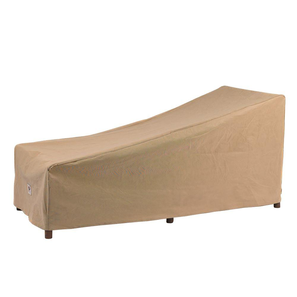 Duck covers essential 74 in l patio chaise lounge cover for Chaise covers outdoor furniture