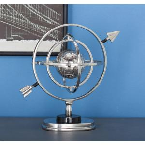 11 inch x 11 inch New Traditional Decorative Aluminium Armillary Sculpture by