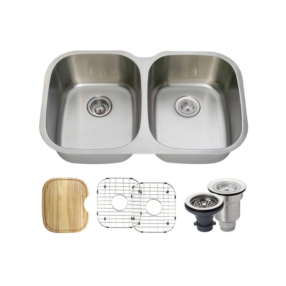 Under Mount Kitchen Sink With  Equal Double Bowls