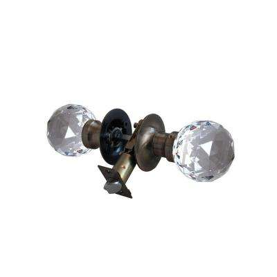 Epoch Crystal Antique Brass Passive Door Knob with LED Mixing Lighting Touch Activated