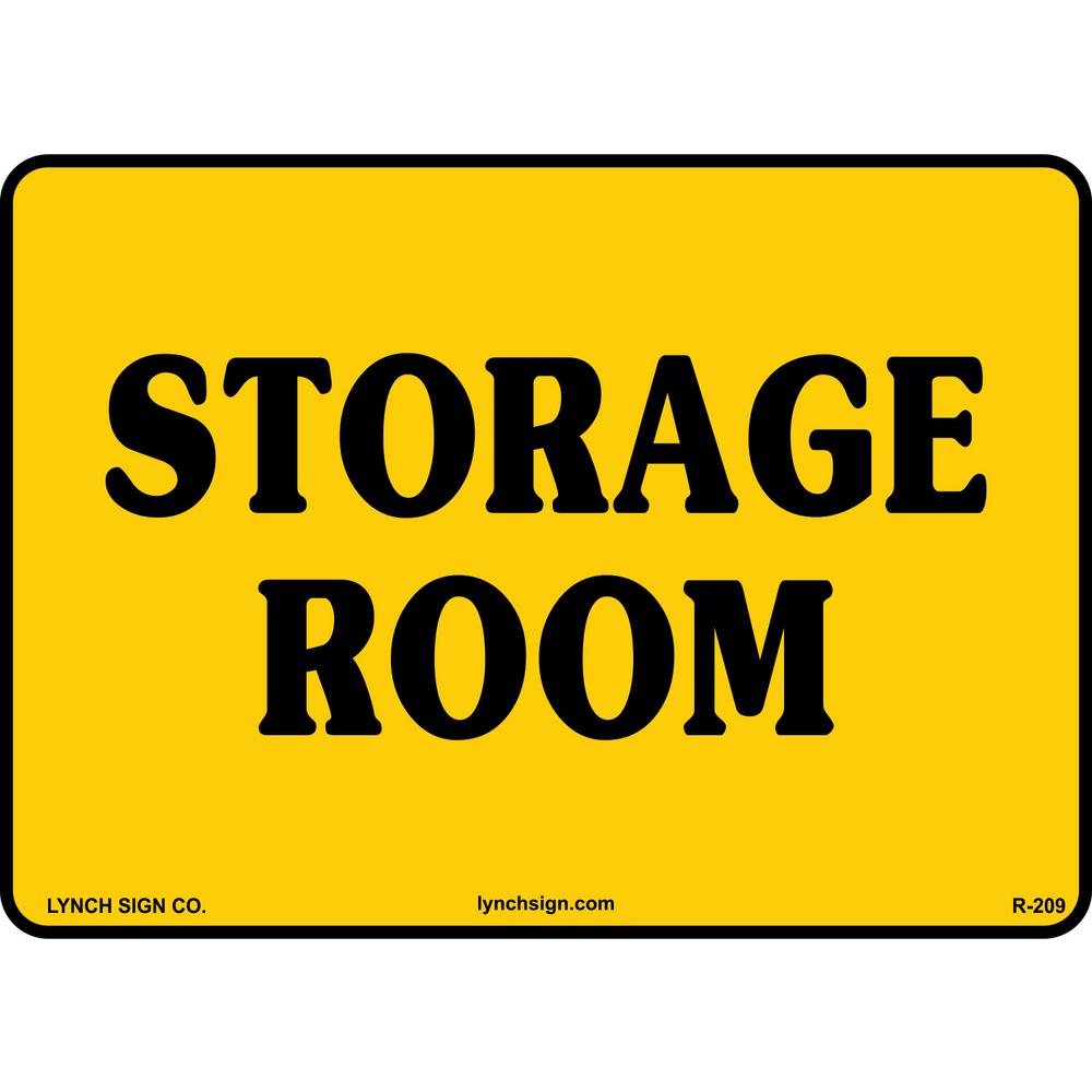 14 in x 10 in storage room sign printed on more durable for Storage room sign