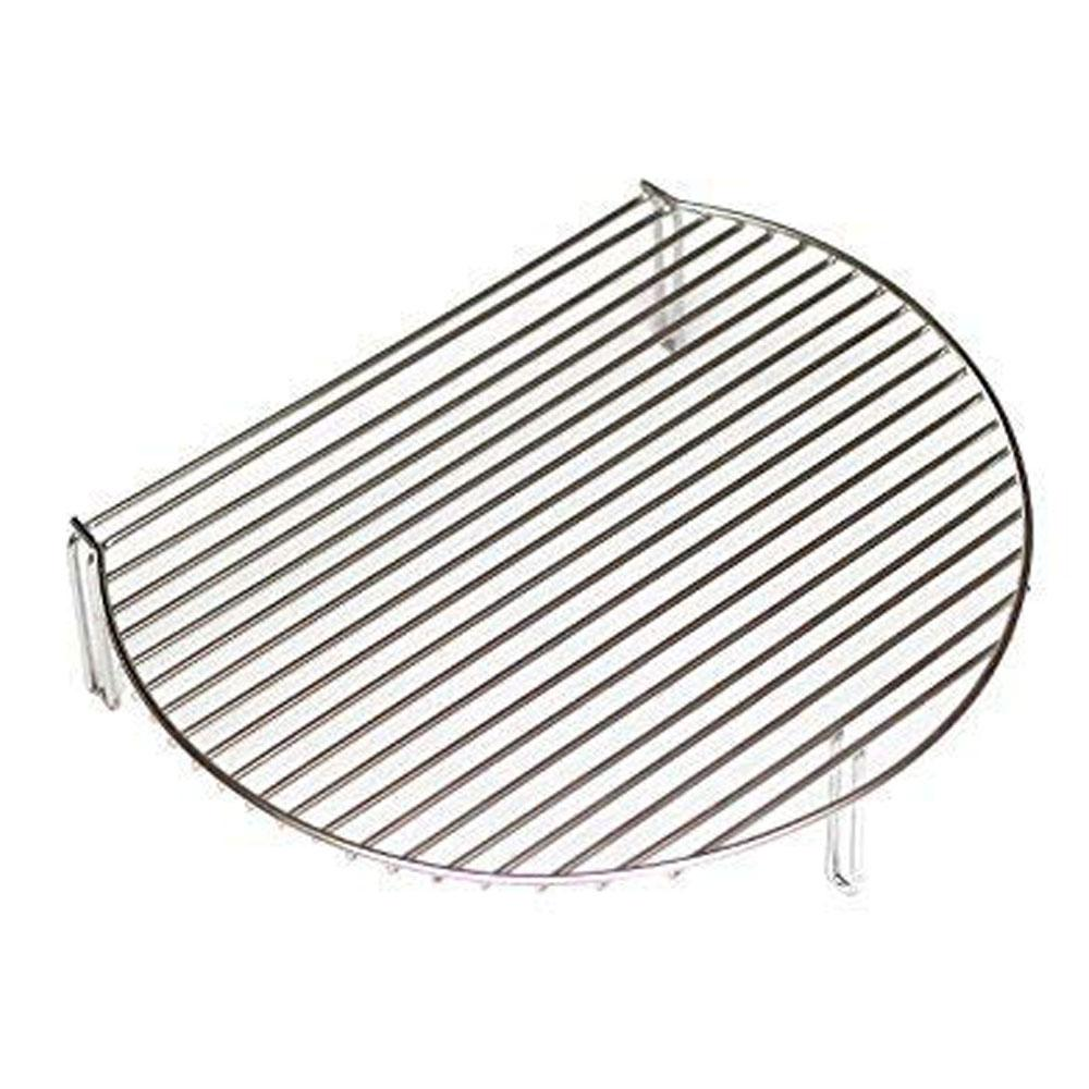 Aura Outdoor Products Stack Rack Grill Extender Large Big Green Egg, Kamado Joe, Vision Instantly expand your grilling surface by 60%. The Stack Rack Grill Extender easily attaches to your cooking grid to add a second or third level of cooking surface in your kamado or kettle. Want even more cooking space. Combine the Stack Rack with our PRO-Zone Cooking System for a whopping 660 sq. in. of grilling room. Now you can cook ribs, whole roasts and chicken, steaks and more all at once. Stainless Steel construction 152sq. in. of grilling space Fits most kamados and kettle grills or smokers Also works with the PRO-Zone Cooking System.