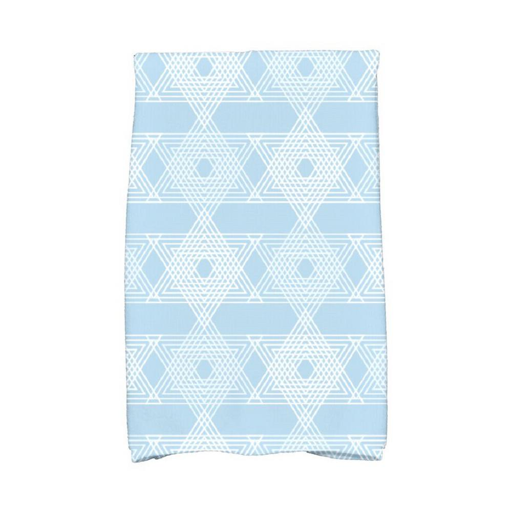 16 in x 25 in light blue star light holiday geometric print rh homedepot com Kitchen Towels 100% Cotton Blue Stripe Cotton Kitchen Towels