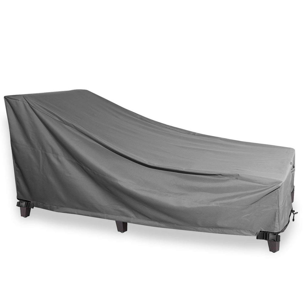 K Gear Grey Chaise Outdoor Weatherproof Heavy Duty Patio Furniture Cover