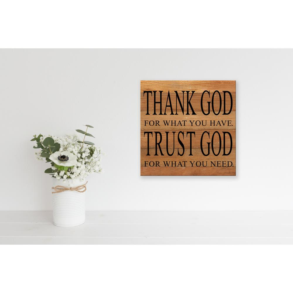 Thank God Reclaimed Wood Decorative Sign 14thank Nr The Home Depot