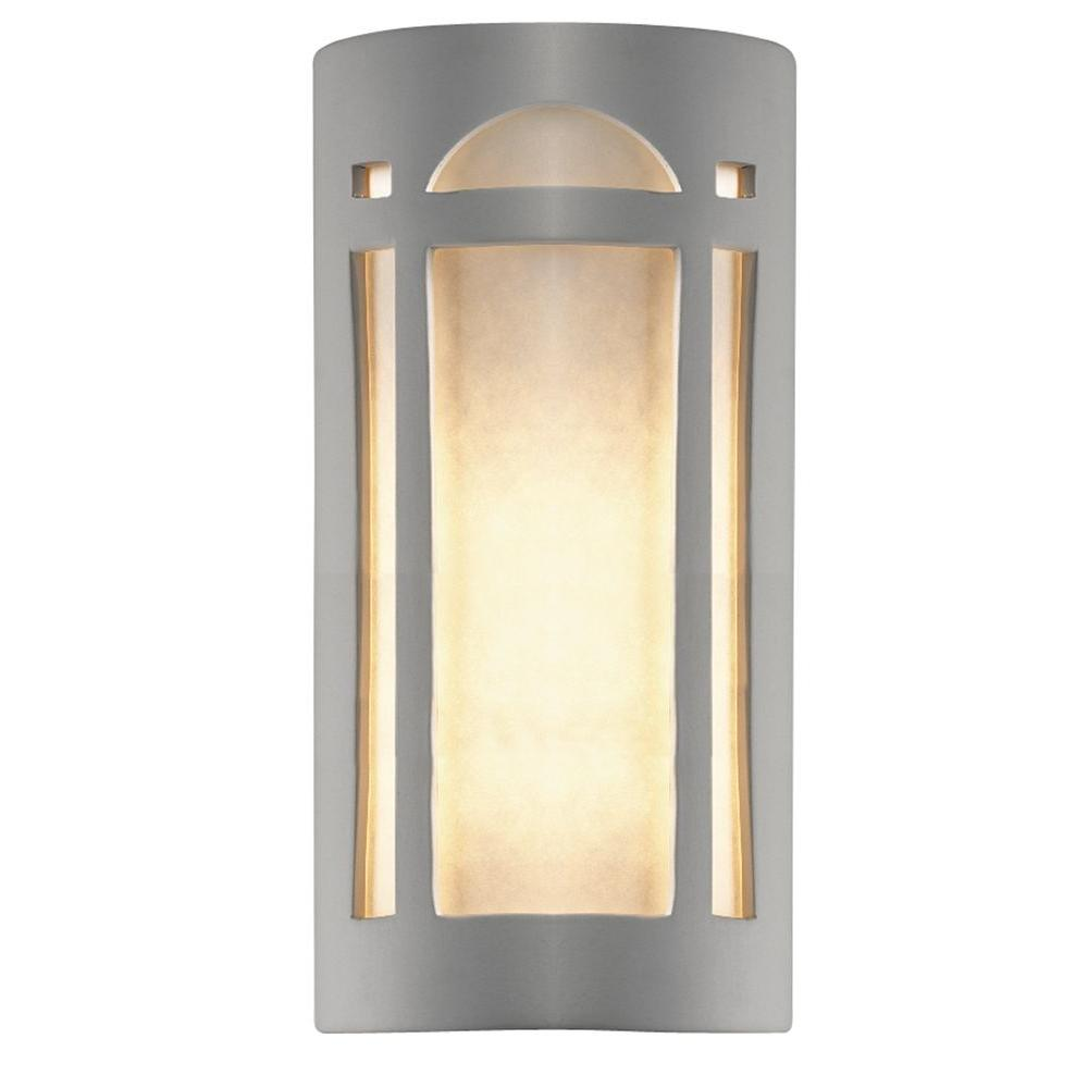 Filament Design Leonidas 2 Light 15 in. Paintable Ceramic Bisque Big Arch Window Open Top and Bottom Wall Sconce