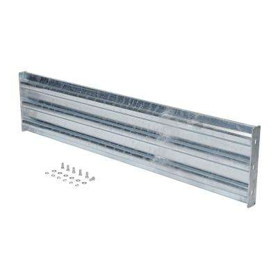 66 in. Galvanized Steel Bolt-On Style Structural Guard Rail with 2-Brackets