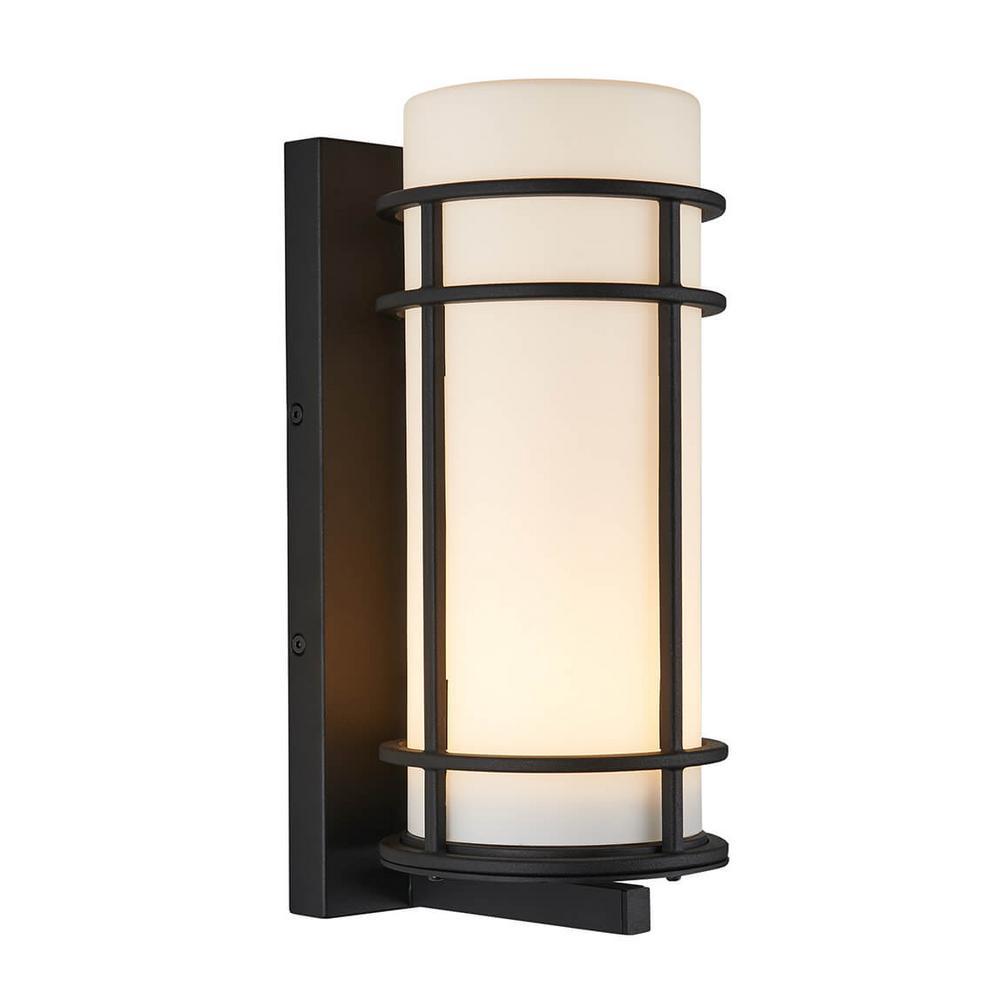 Medium Brisbane Black Outdoor Integrated LED Wall Mount Lantern