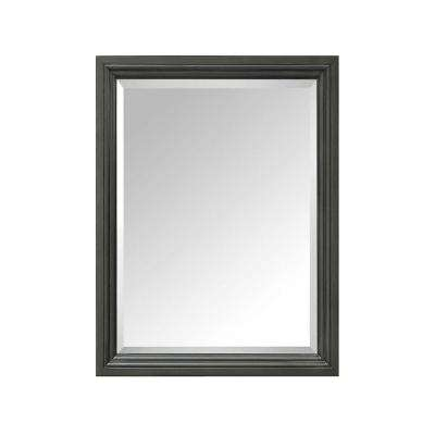 Thompson 24 in. W x 30 in. H Single Framed Mirror in Charcoal Glaze