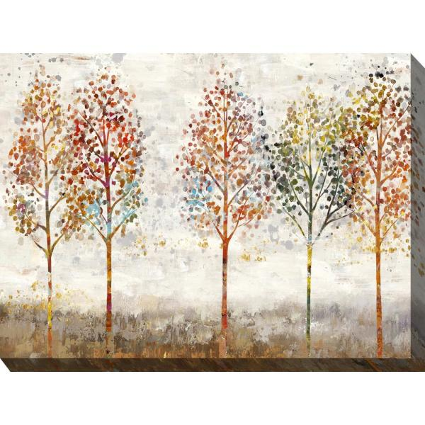 40 In X 30 In Young Forest Outdoor Canvas Wall Art