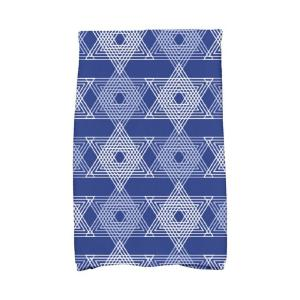 Click here to buy  16 inch x 25 inch Royal Blue Star Light Holiday Geometric Print Kitchen Towel.