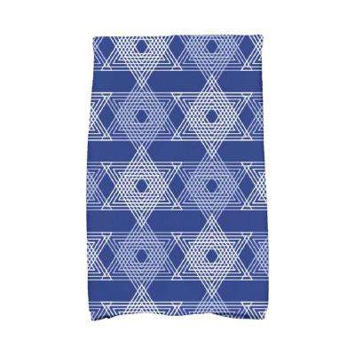 16 in. x 25 in. Royal Blue Star Light Holiday Geometric Print Kitchen Towel