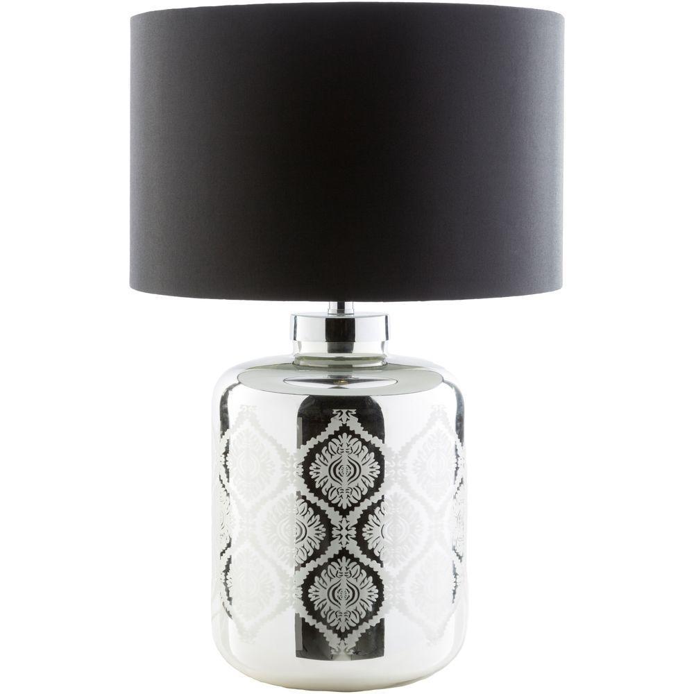 Nartov 25.5 in. Antique Mirror Indoor Table Lamp