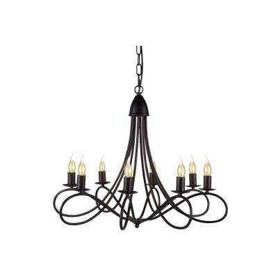 Lyndon 8-Light Dark Bronze Pendant Lamp