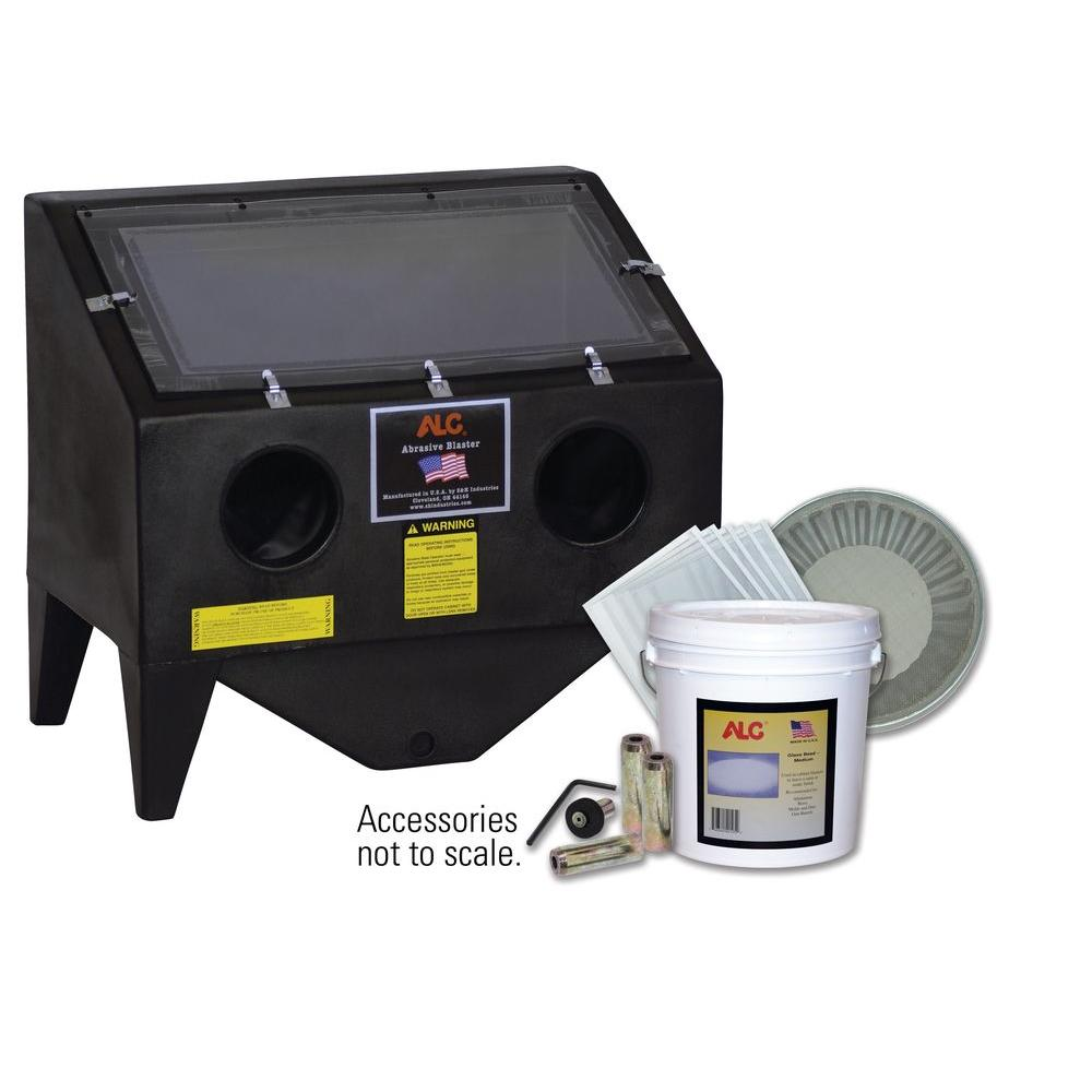 Bench Top Abrasive Blaster Cabinet with Starter Kit