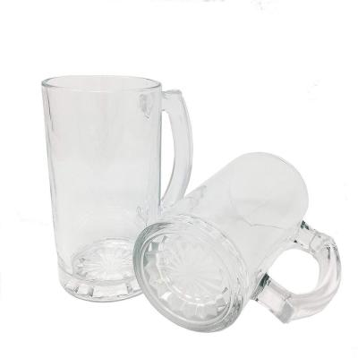 Large 16 oz. Heavy Duty Solid Pub Bar Glass Beer Mugs with Thick Bottom Design (Set of 12)