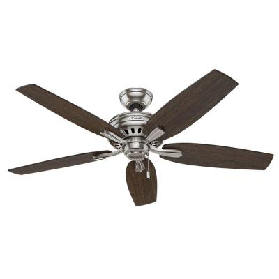 Newsome 52 in. Indoor Brushed Nickel Ceiling Fan Bundled with Handheld Remote Control