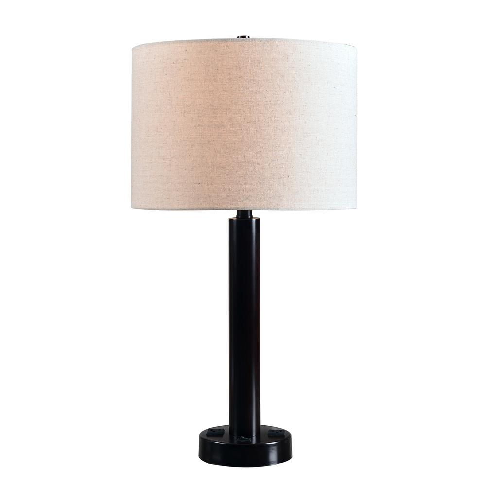 Table Lamp With Cream Drum Shade