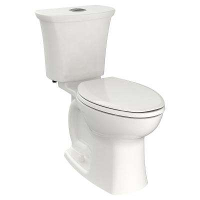 Edgemere 12 in. Rough-In 2-Piece 1.1/1.6 GPF Dual Flush Right Height Elongated Toilet in White, Seat Not Included