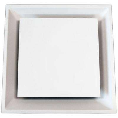 24 in. x 24 in. to 14 in. T-Bar Architectural 4-Way Ceiling Register, White