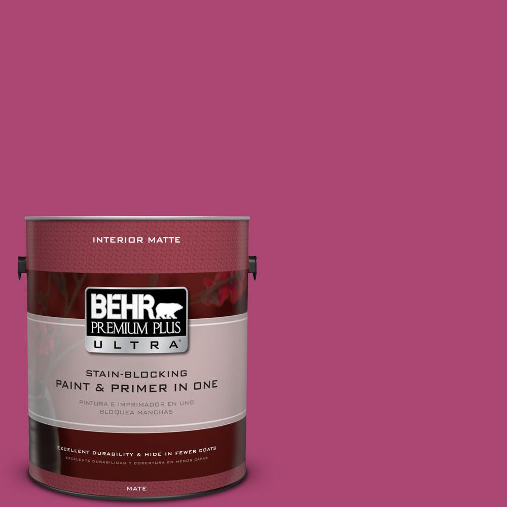 100b 7 Hot Pink Matte Interior Paint And Primer In One 175301 The Home Depot