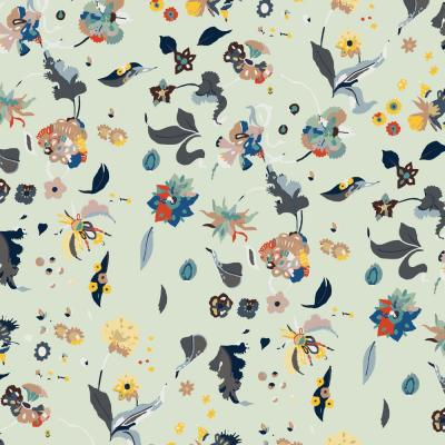 Nomad Collection Floral Bliss in Mixed Removable and Repositionable Wallpaper
