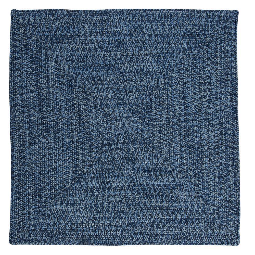 Marilyn Tweed Ocean Wave 6 ft. x 6 ft. Square Braided Rug
