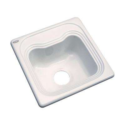 Oxford Drop-In Acrylic 16 in. Single Bowl Entertainment Sink in Natural