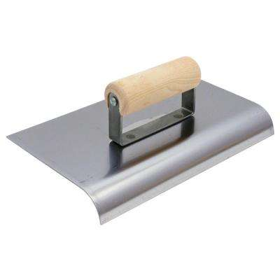 6 in. x 6 in. Stainless Steel Edger with 3/8 in. Radius Wood Handle