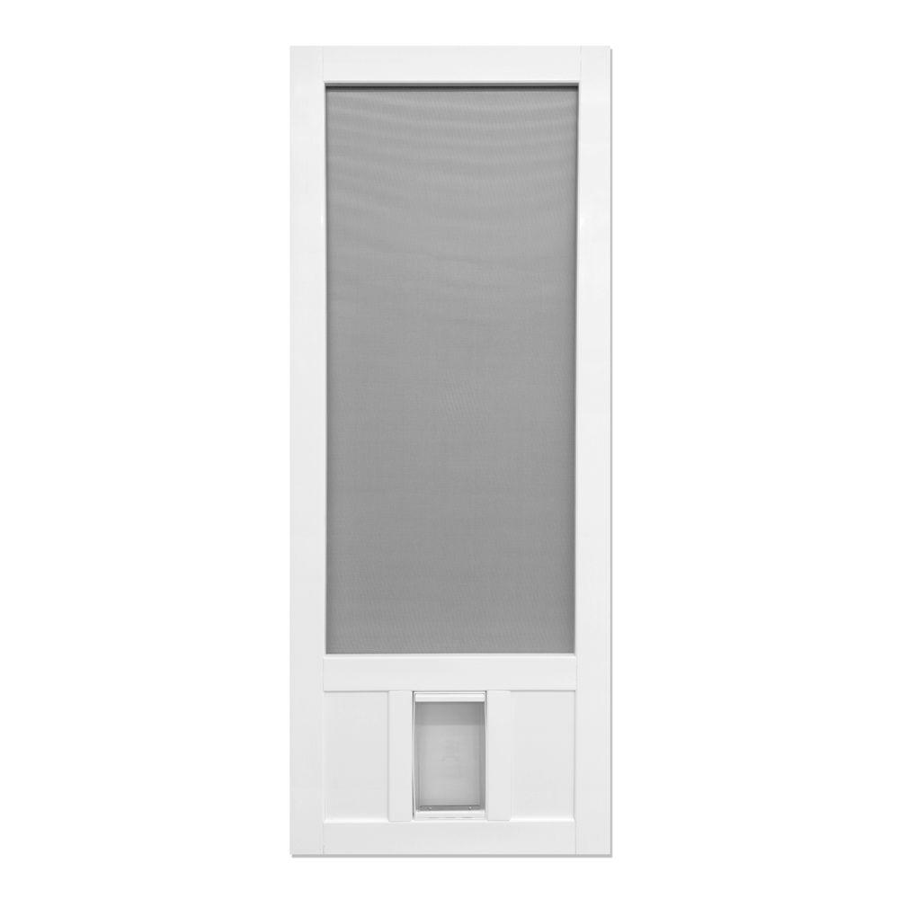 Screen Tight 32 In X 80 In Chesapeake Series Reversible Solid Vinyl Screen Door With Medium