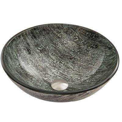Glass Vessel Sink in Titanium