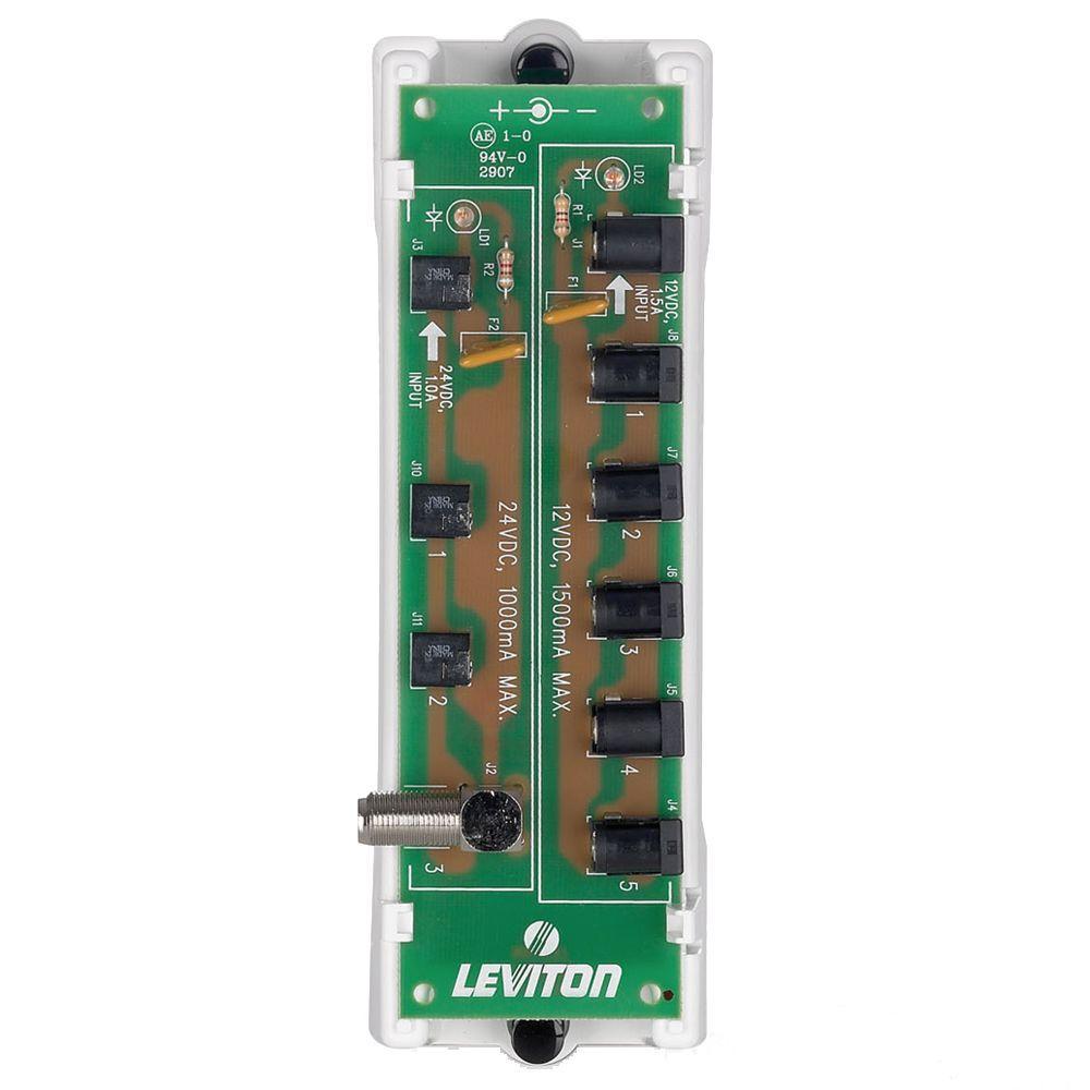 Leviton Structured Media 12VDC/24VDC DC Bus, White