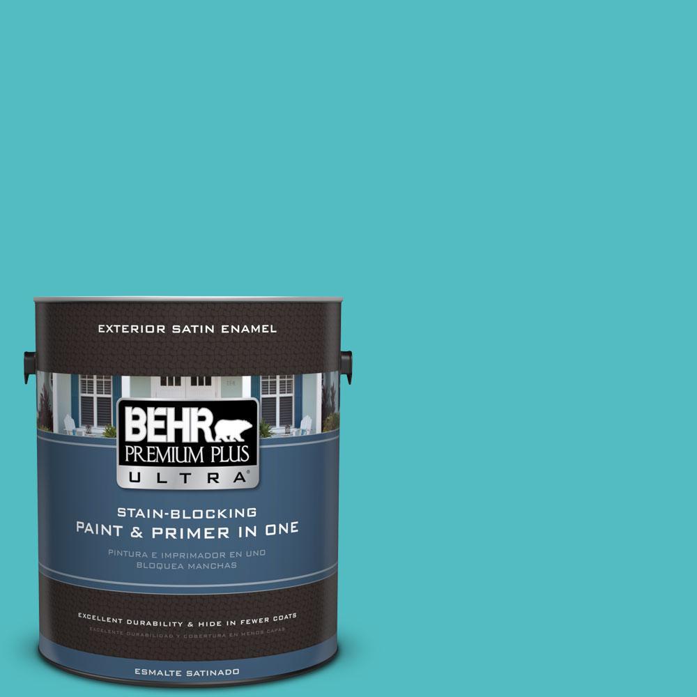 BEHR Premium Plus Ultra Home Decorators Collection 1-gal. #HDC-WR14-6 North Wind Satin Enamel Exterior Paint