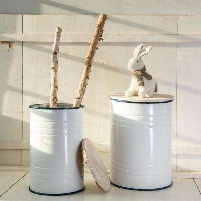 Farmhouse Enamel Metal Container (Set of 2)