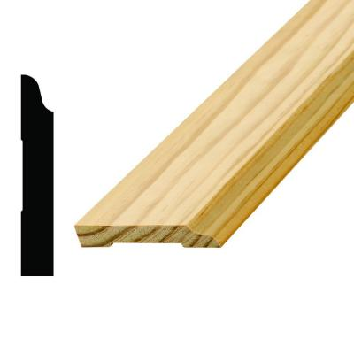 WM 662 9/16 in. x 3-1/2 in. x 96 in. Pine Base Moulding