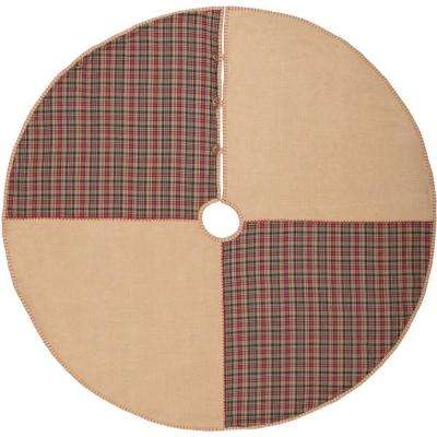 60 in. Clement Natural Tan Rustic Christmas Decor Tree Skirt
