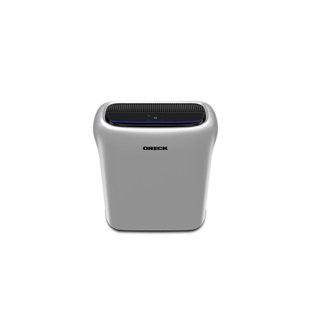 Oreck Oreck Air Response HEPA Air Purifier with Odor Control and Auto Mode for Medium Rooms, Silver