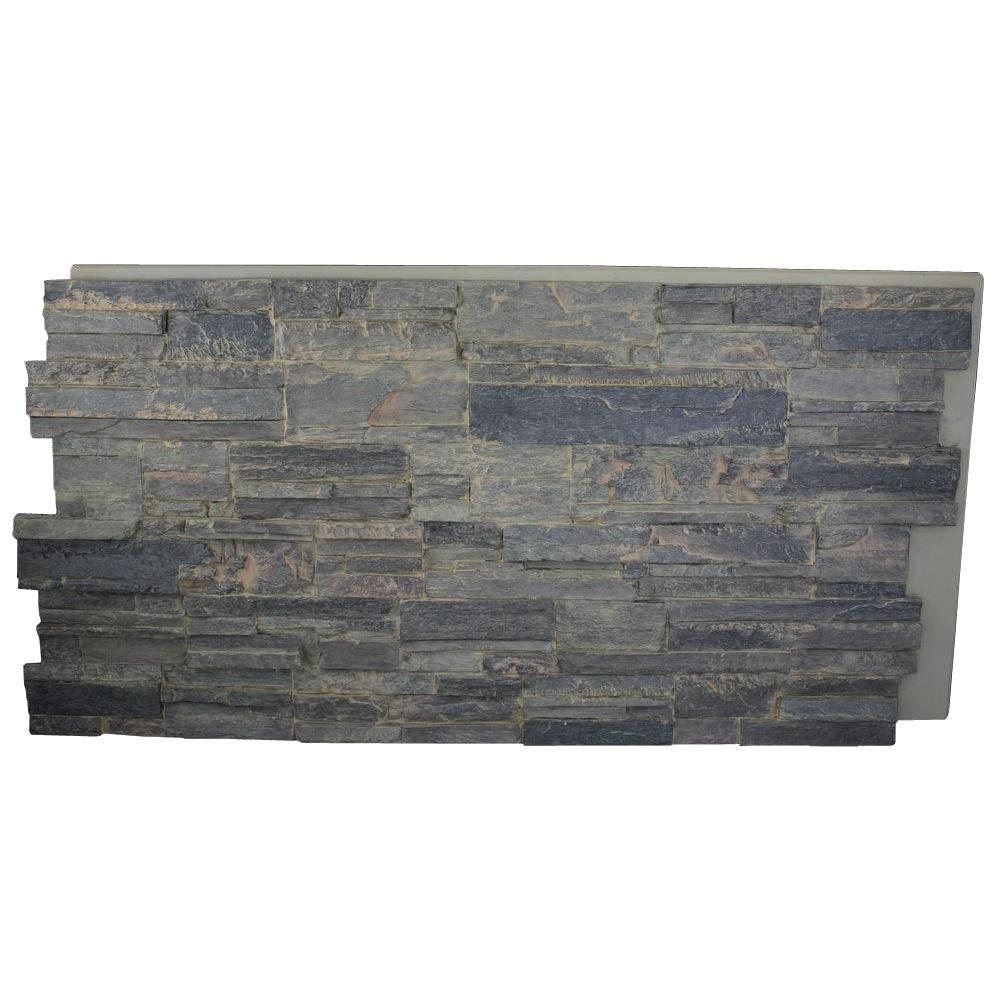 Superior Building Supplies Faux Tennessee 24 in. x 48 in. x 1-1/4 in. Stack Stone Panel Cliff Grey