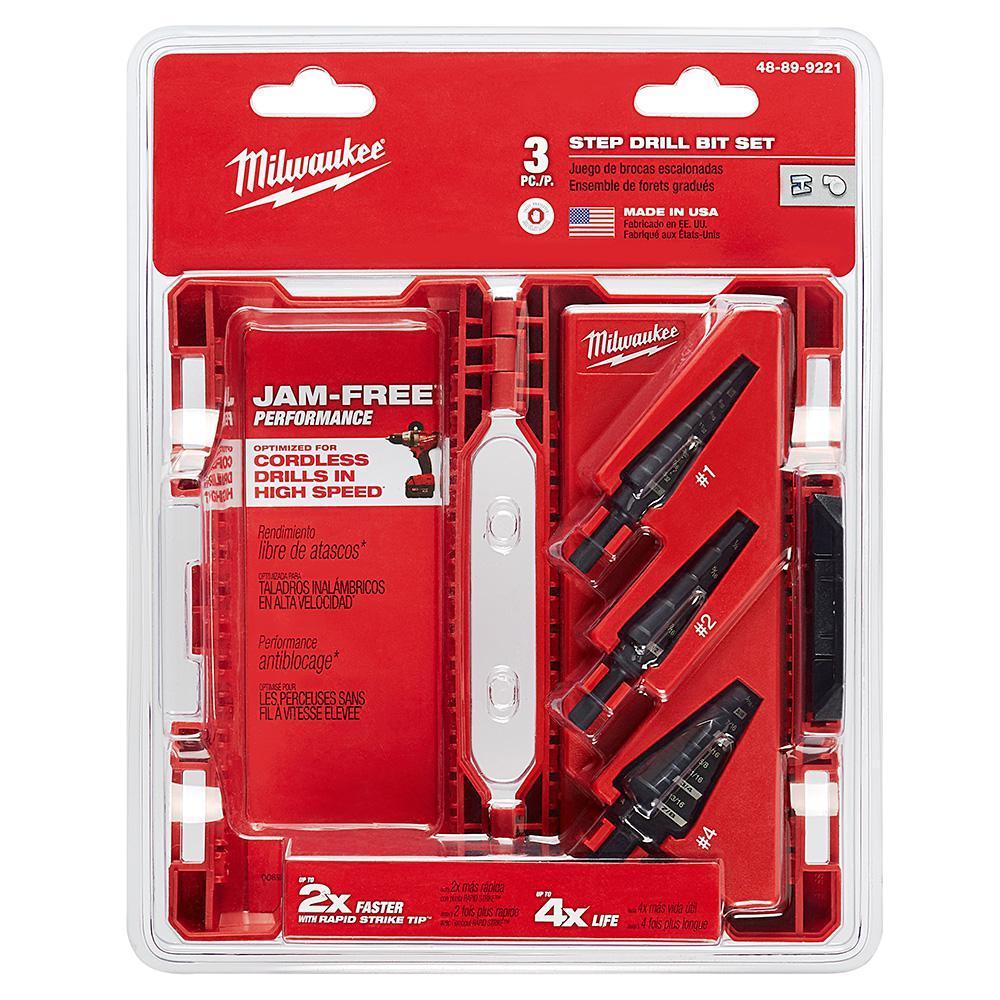 Step Drill Bit Kit (3-Piece)