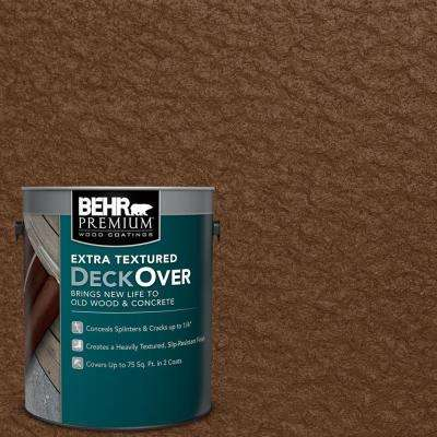 1 gal. #SC-129 Chocolate Extra Textured Solid Color Exterior Wood and Concrete Coating