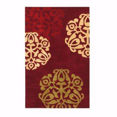 Chadwick Burgundy/Gold 9 ft. x 12 ft. Area Rug