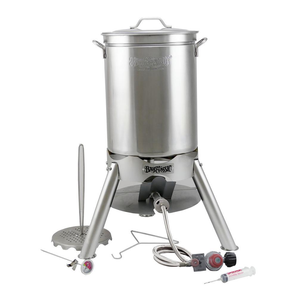 Bayou Classic 44 Qt. Stainless Steel Turkey Fryer Kit
