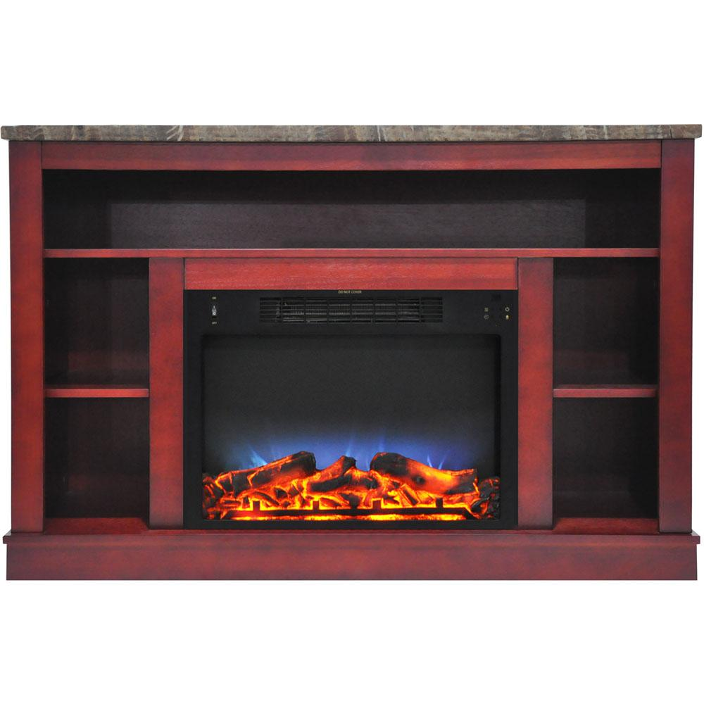 Fine Cambridge 47 In Electric Fireplace With A Multi Color Led Insert And Cherry Mantel Download Free Architecture Designs Rallybritishbridgeorg