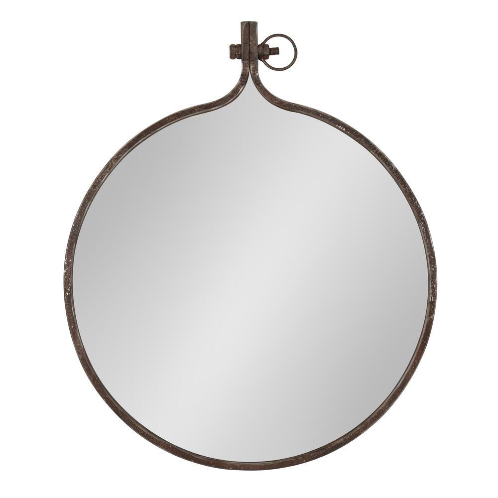 Medium Round Bronze Casual Mirror (28.5 in. H x 23.5 in. W)