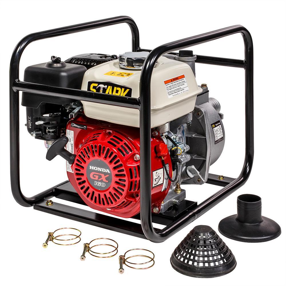 5.5 HP 2 in. Gas-Powered Semi-Trash Water Pump, Honda GX160 Engine