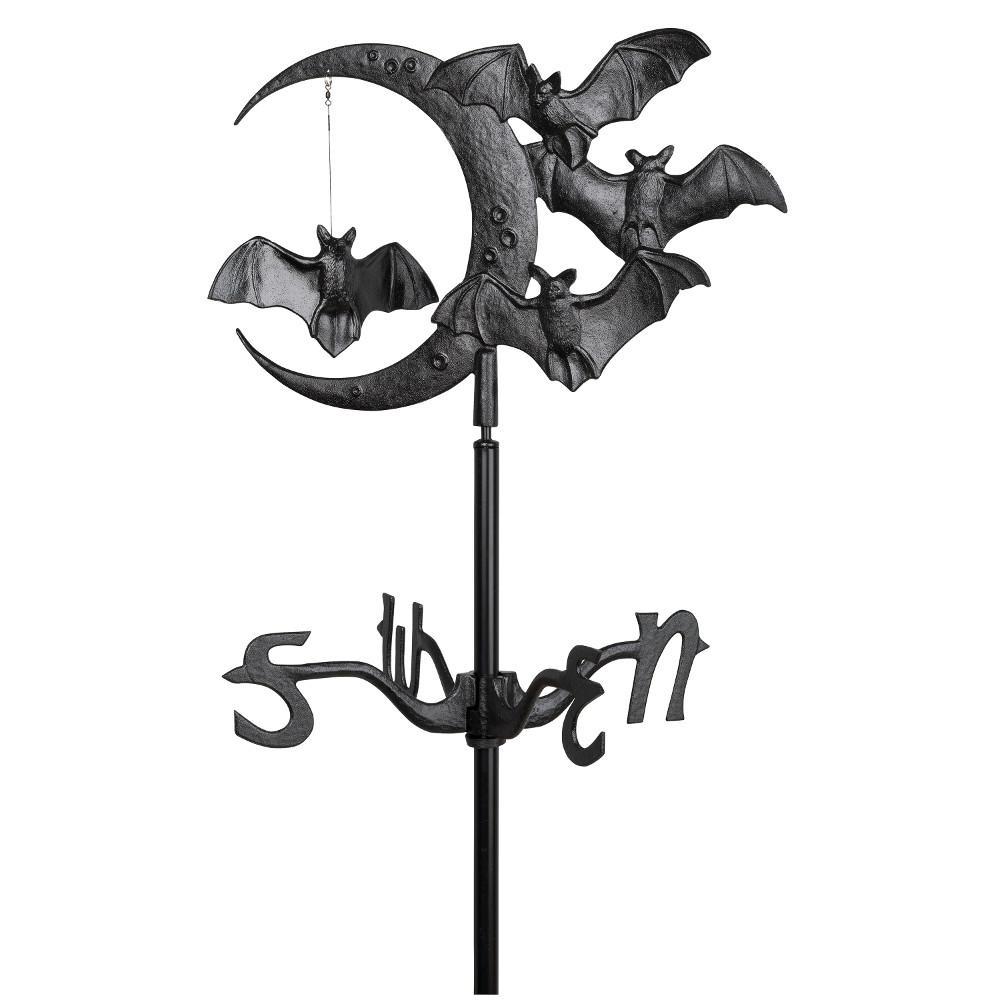 Black Halloween Bat Garden Weathervane