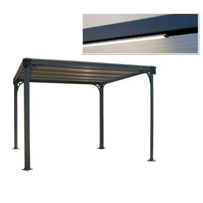 Milano 10 ft. x 10 ft. Aluminum Hard Top Gazebo and LED Lighting Kit