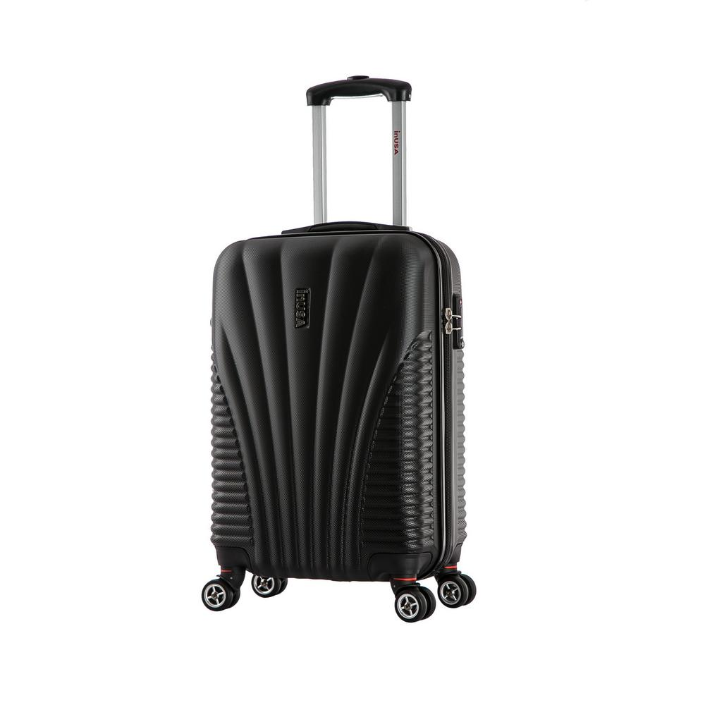 fd47ff380 InUSA Chicago lightweight hardside spinner 21 in. carry-on-Black-IUCHI00S-BLK  - The Home Depot